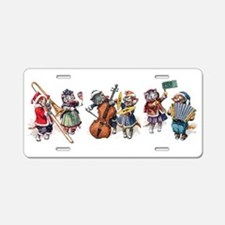 Jazz Cats In the Snow Aluminum License Plate