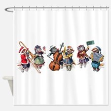 Jazz Cats In the Snow Shower Curtain