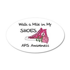 Walk a Mile in My Shoes 22x14 Oval Wall Peel