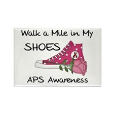 Walk a Mile in My Shoes Rectangle Magnet