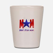 A Blue Star Mom-lettered Shot Glass