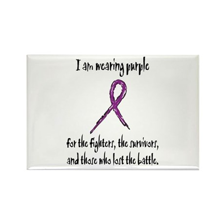 I Am Wearing Purple Rectangle Magnet (10 pack)