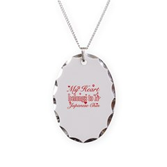 Japanese Chin Dog Designs Necklace