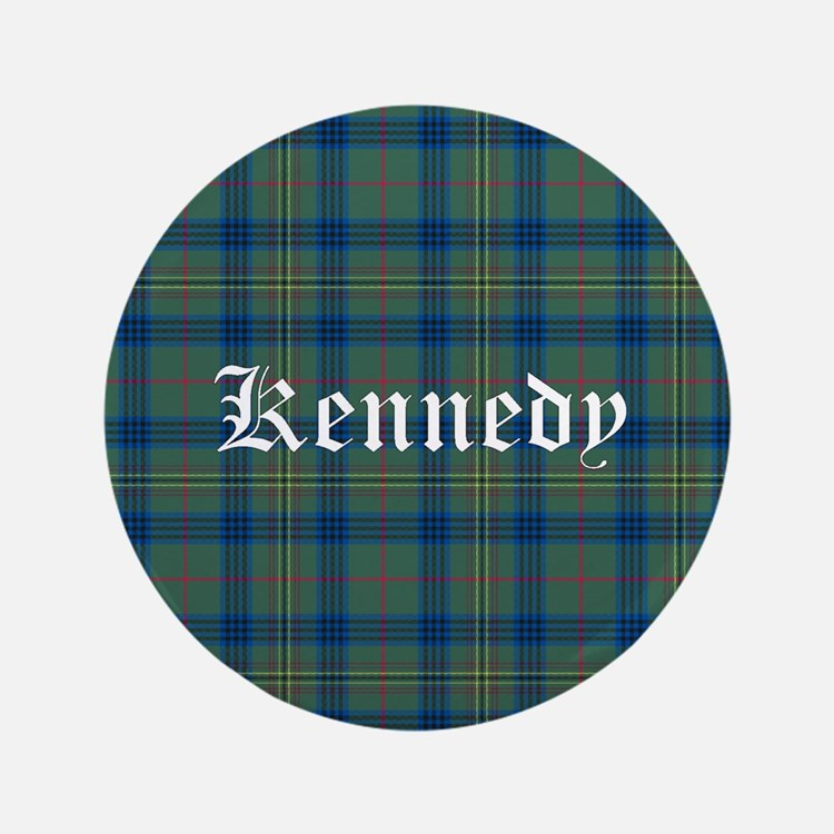 "Tartan - Kennedy 3.5"" Button"