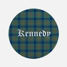 "Tartan - Kennedy 3.5"" Button (100 pack)"
