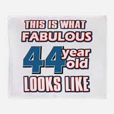 Cool 44 year old birthday designs Throw Blanket