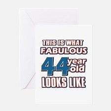 Cool 44 year old birthday designs Greeting Card