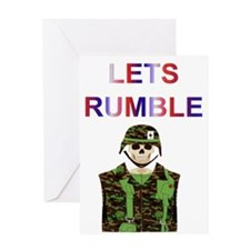 LETS RUMBLE Greeting Card
