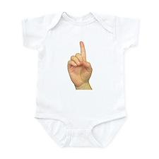 ASL Letter D Infant Creeper