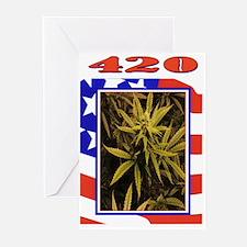 420 FLAG DESIGN Greeting Cards (Pk of 20)