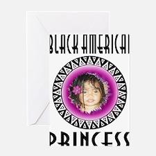 BLACK AMERICAN PRINCESS Greeting Card