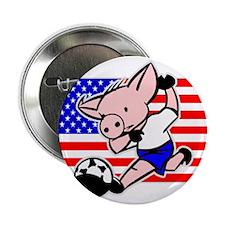 USA Soccer Pigs Button