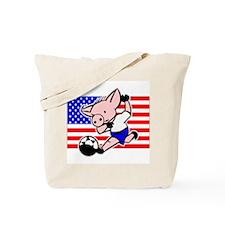 USA Soccer Pigs Tote Bag
