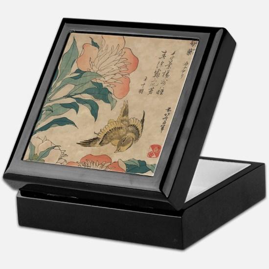 Hokusai Peony and Canary Keepsake Box