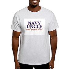 Navy Uncle & proud of it! Ash Grey T-Shirt