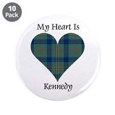 "Heart - Kennedy 3.5"" Button (10 pack)"