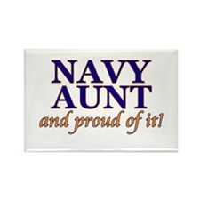 Navy Aunt & proud of it! Rectangle Magnet