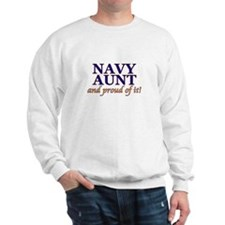 Navy Aunt & proud of it! Sweatshirt