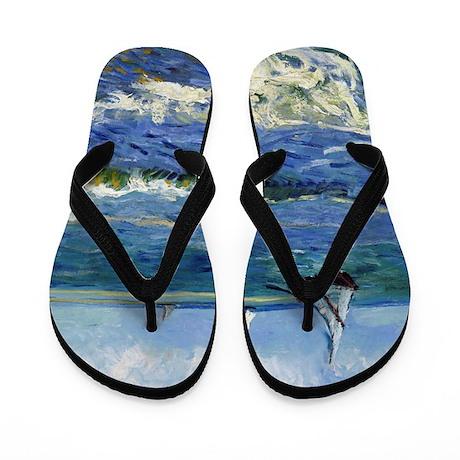 Van Gogh - Seascape Flip Flops