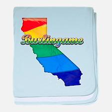 Burlingame, California. Gay Pride baby blanket