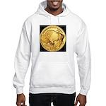 Black-Gold Buffalo-Indian Hooded Sweatshirt