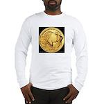 Black-Gold Buffalo-Indian Long Sleeve T-Shirt