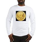 Black-Gold Indian-Buffalo Long Sleeve T-Shirt