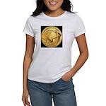 Black-Gold Buffalo-Indian Women's T-Shirt