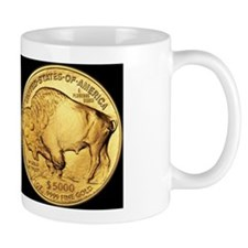 Black-Gold Indian-Buffalo Coffee Mug