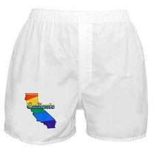 Caliente, California. Gay Pride Boxer Shorts