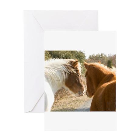 Best Buddies Horses Greeting Card