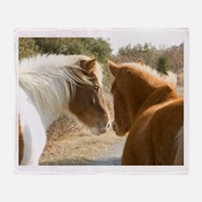 Best Buddies Horses Throw Blanket