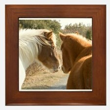 Best Buddies Horses Framed Tile