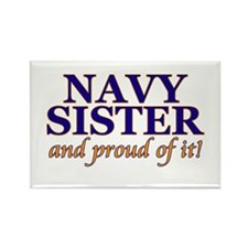 Navy Sister & proud of it Rectangle Magnet