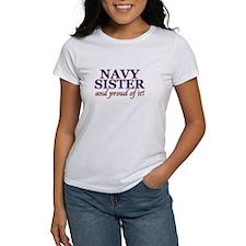 Navy Sister & proud of it Tee
