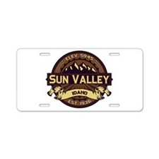 Sun Valley Sepia Aluminum License Plate