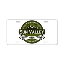 Sun Valley Olive Aluminum License Plate