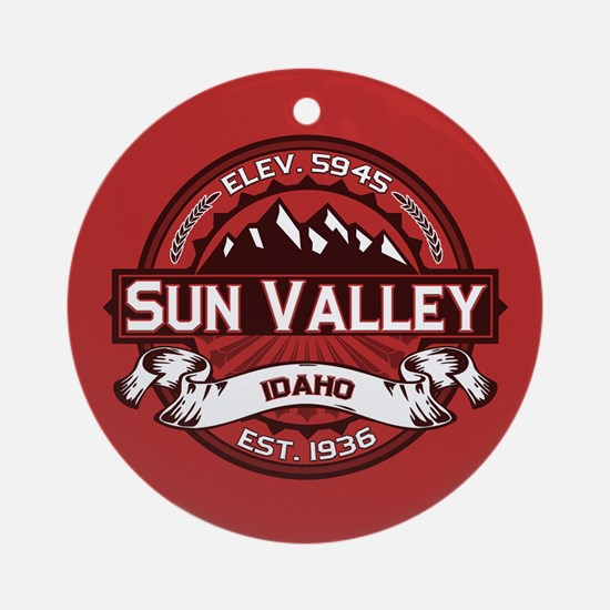 Sun Valley Red Ornament (Round)
