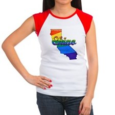 Chino, California. Gay Pride Women's Cap Sleeve T-
