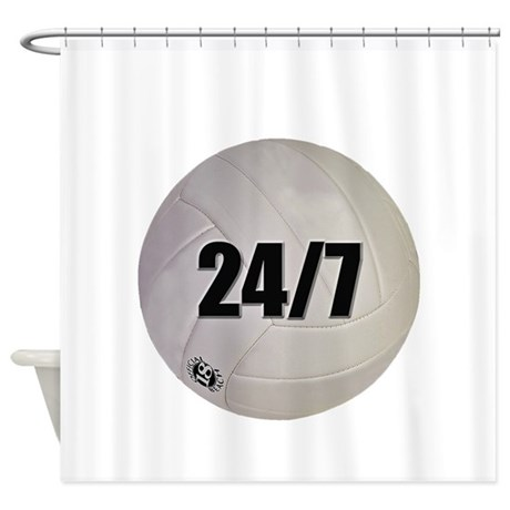 24/7 Volleyball Shower Curtain
