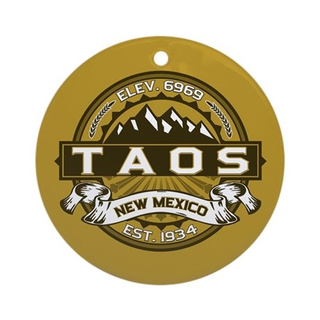 Taos Gold Ornament (Round)