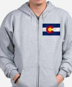 Flag of Colorado Zip Hoodie