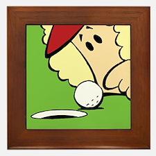Funny Women's Golf Framed Tile