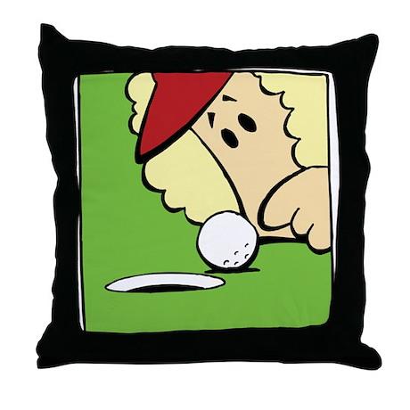 Funny Women's Golf Throw Pillow