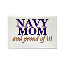 Navy Mom & proud of it! Rectangle Magnet