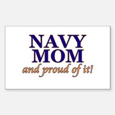 Navy Mom & proud of it! Rectangle Decal