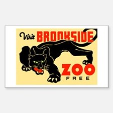 Brookside Zoo WPA Poster Decal