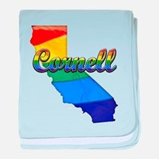 Cornell, California. Gay Pride baby blanket