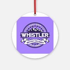 Whistler Violet Ornament (Round)
