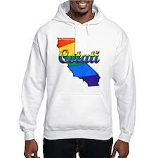 Cotati, California. Gay Pride Hoodie Sweatshirt